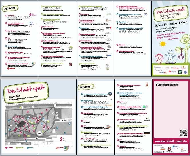 Verkleinerung des Faltblatts / Programms