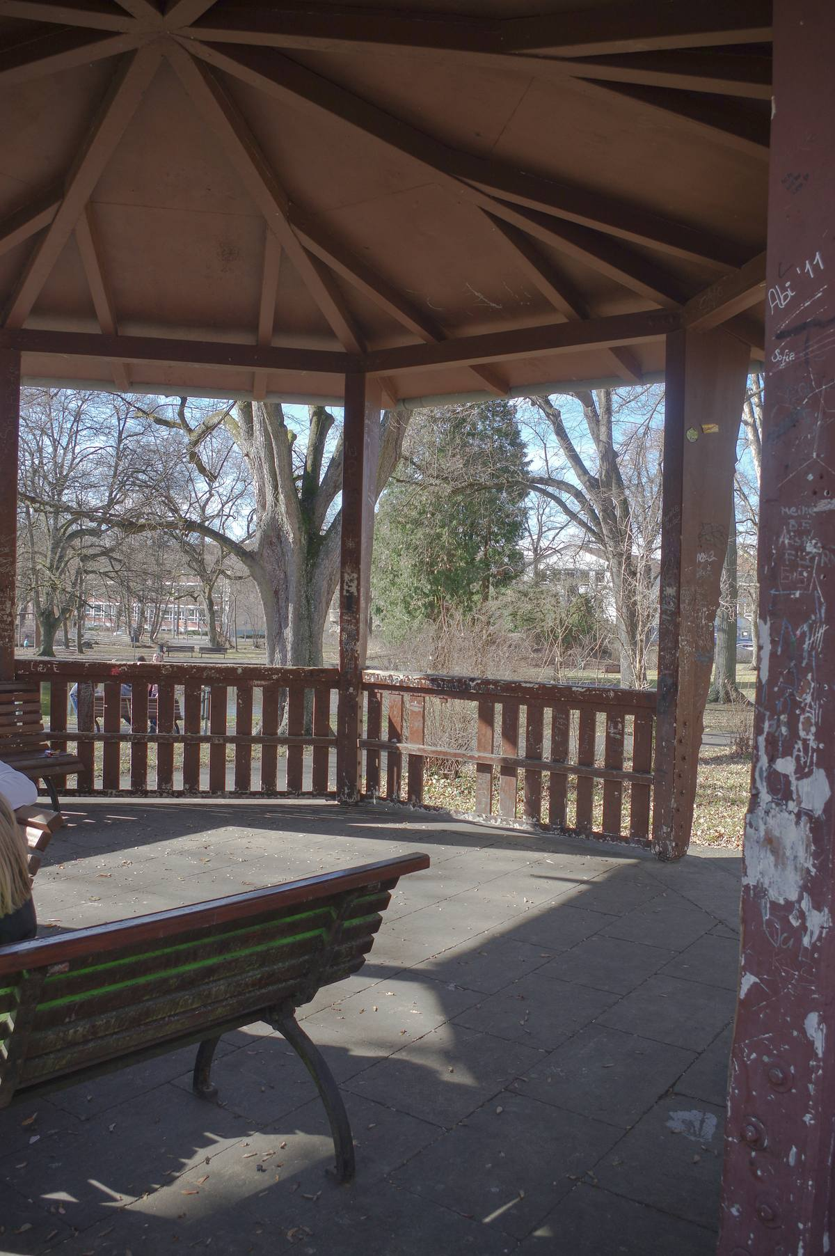 Foto im alten Pavillon im Stadtgarten