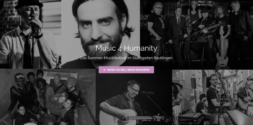 Screenshot von Music 4 Humanity